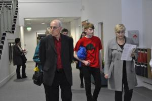 Film buffs of all ages arrive for our Filmbox launch event (Sep. '12)