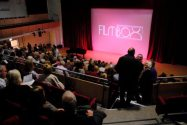 FILMBOX patrons in Screen 1 - the Performance Hall (seats 400+)